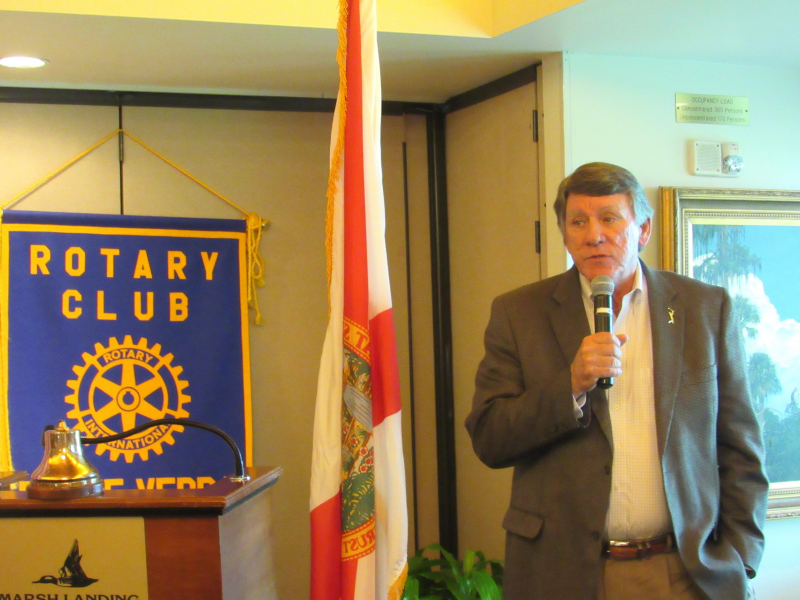 Gator Bowl Association Executive Director Rick Catlett addresses The Best Rotary Club in the World
