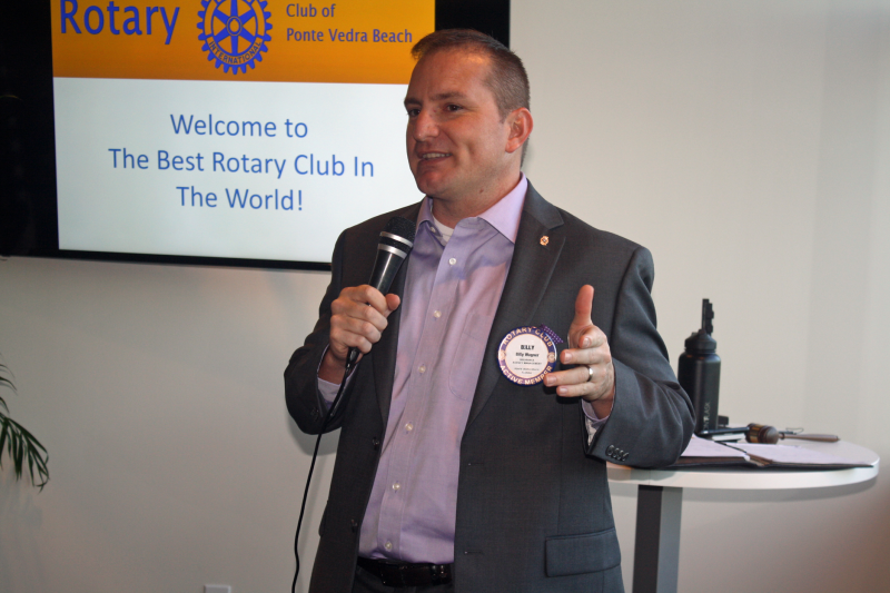 President Billy Wagner welcomes members and guests to The Best Rotary Club in the World!