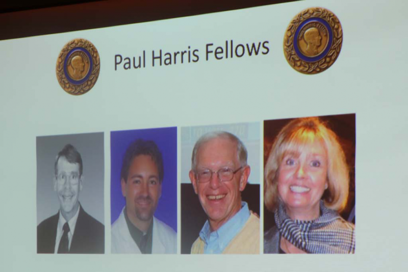 Congratulations and Thank you to our newest Paul Harris Fellows