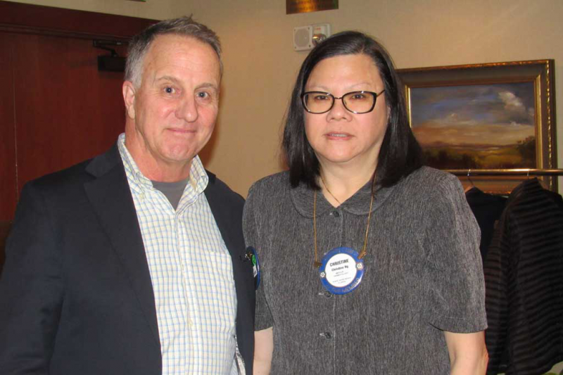 Drs. Tom Hilton and Christine Ng
